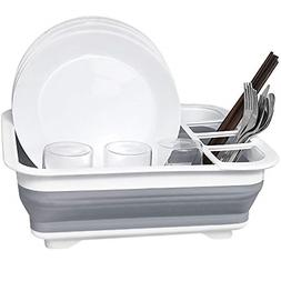 Dish Drying Drainer Collapsible Rack Compact for Small Kitch