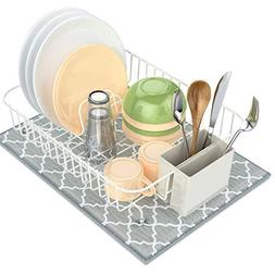 Dish Drying Rack, Packism Dish Drainer with Dish Drying Mat