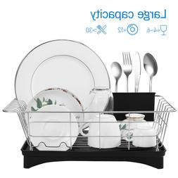 Dish Drying Rack -304 Stainless Steel Dish Drainer with Remo