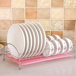 Dish Drying Rack, Stainless Steel Dish Drainer with Removabl