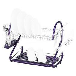 Dish Drying Rack - TOOGOO Stainless Steel 2 Tiers Kitchen Di