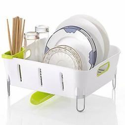 Dish drying rack and drainboard set with adjustable Swivel S