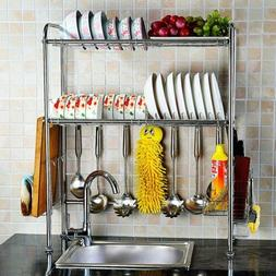 Dish Drying Rack Cutlery Holder Storage of Stainless Steel w