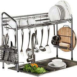 Dish Drying Rack Multipurpose Over Sink Extra Large Top Shel
