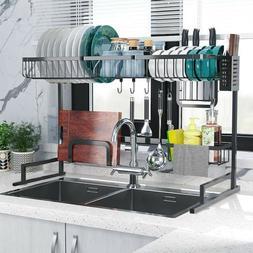 Dish Drying Rack Over Sink Display Drainer Home Utensils Dra