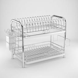 Dish Drying Rack Over Sink Drainer Shelf Kitchen Storage &Or