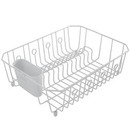 Dish Drying Rack In-Sink Countertop Drainer Cutlery Tray Kit