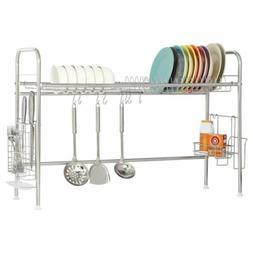 NEX 1-Tier Dish Drying Rack Stainless Steel Dish Storage wit