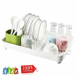 Dish Drying Rack with Drain Board, Whitgo Stainless Steel Di