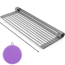 Dish Drying Rack,  Roll Up Dish Drainer Rack for Kitchen Sin