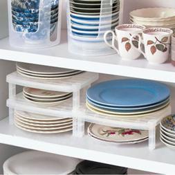 Dish Organizer Home Kitchen Plastic Drying Rack Holder Shelf