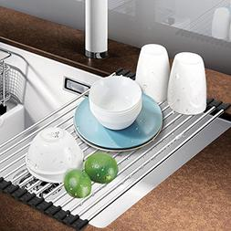Dish Rack, Aiduy Roll Up Dish Drying Rack Dish Drainer Over