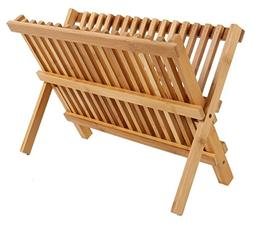 Dish Rack - 2 Tier Bamboo Drying Dish Rack for Kitchen - Dry