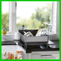 Dish Washer Rack Modern Stainless Steel Glass Holder Dishrac