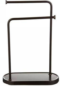 double l hand towel and accessories stand