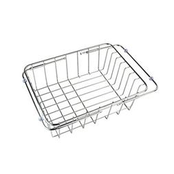 Dish drain rack, telescopic sink rack stainless steel dish r