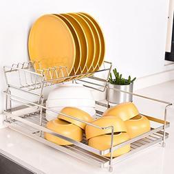 Dish drain rack, stainless steel water filter basket kitchen