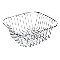 Dish drain rack, sink rack fruit drain basket stainless stee