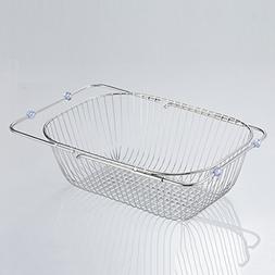 Dish drain rack, telescopic kitchen drain rack stainless ste