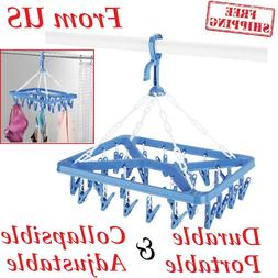 Drip Clip Laundry Hanger 26 Clips Drying Clothes Storage Han