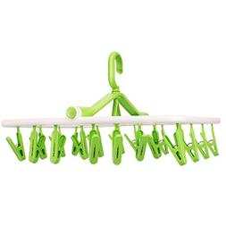iTOWE Drip Hanger with 20Clip Pegs, Portable Folding Clothes