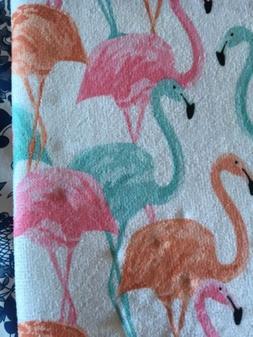 Cuisinart Drying Mat With Rack Pink Flamingos Tropical Aloha