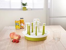 Drying Rack, Windspeed 8 holes Bottle Dish Cup Drain Dry Org