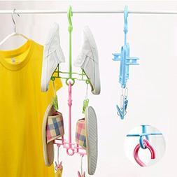LexBu Sport Shoe Drying Rack Hanger Scarf Hook Pink