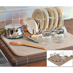 FinnTM Dual Sided XL Dish Drying Mat - Microfiber Absorbent