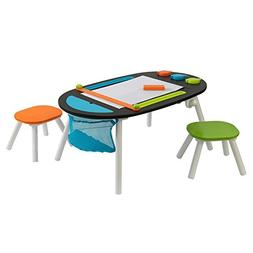 Durable Deluxe Chalkboard Art Table W/ 3 Sealable Spill-Proo