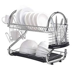 Wtape Durable Steel Rust Proof Kitchen In Sink Two Tier Dish