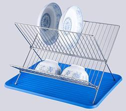 Small Dish Rack Easy Foldable Design Storage Flexibility Fol