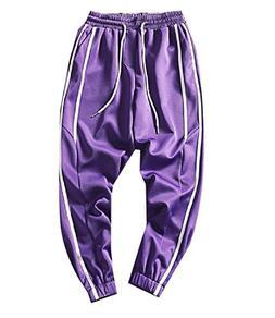 Comaba Men Elastic Waist Long Tenths Pants Casual Fashion Cl