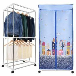 Electric Clothes Dryer Portable Wardrobe Drying Rack Heat He