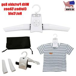 Electric Folding Clothes Hanger Shoes Dryer Hot/Cold Drying