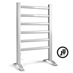 Electric Warmer Drying Rack Heated Towel 6 Bars Wall Mount B