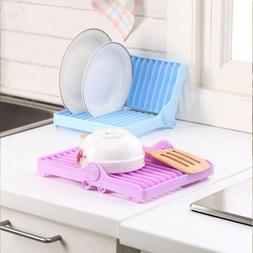 Useful Storage Holder Dish Plate Drying Rack Organizer Kitch