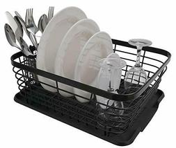 ESYLIFE Kitchen Dish Drainer Drying Rack with Drip Tray and