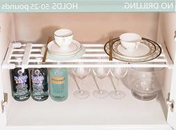 ALLZONE Expandable Under Sink Cabinet Organizer,Plastic Cove