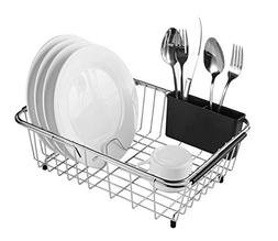 Expandable Dish Drying Rack, 304 Stainless Steel Over Sink D