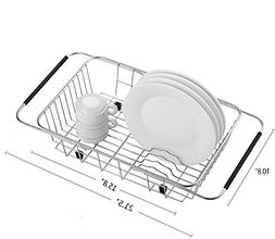 MOHICO Expandable Dish Drying Rack, Dish Drainer On Counter,