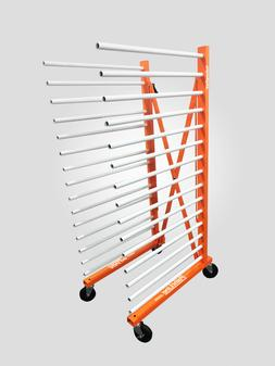 Expandable drying rack for cabinets doors, shelves, woodwork