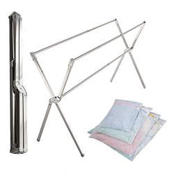 iEllevie Expandable Stainless Steel Clothes Drying Rack for