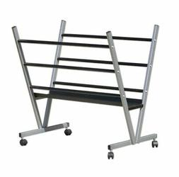Art Expo Metal Art Print Rack With Rolling Casters Holds Pos