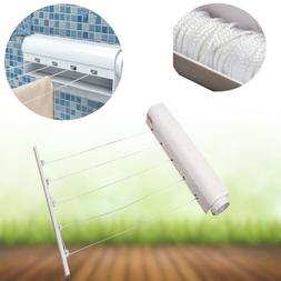 Flexible 4/5 Line Wall Hanger Clothes Dryer Retractable Indo