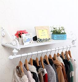 LPZ-SHELF Floating Shelves - Metal Iron Wall Coat Hooks Stor