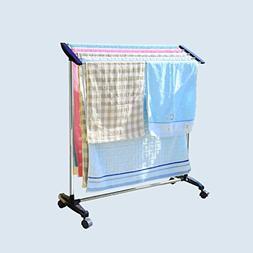 MINGLI Floor Towel Rack Stainless Steel Vertical Rack Remova