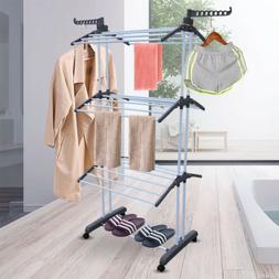 Foldable 3-layer Drying Rack Laundry Folding Hanger Dry Drye