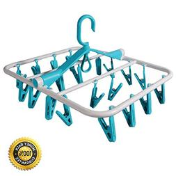 EVERSPORT Foldable Clip and Drip Hanger Laundry Hanger with