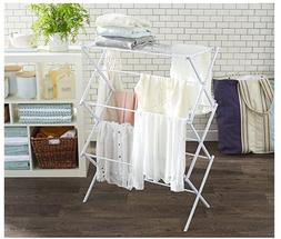 Foldable Clothes Drying Laundry Rack - White